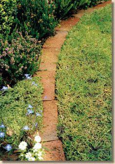 brick mowing strip