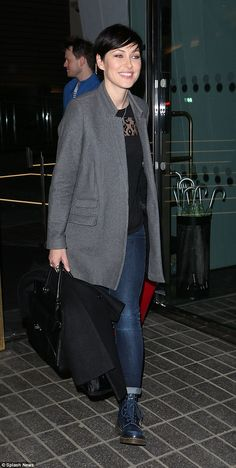 Swift exit: Emma was no doubt going to visit her husband Matt Willis since he checked into hospital over the weekend to undergo surgery
