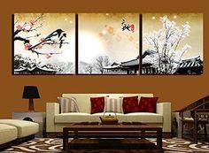 Bernice-arte de la lona,3p Pintura Art Deco moderno del arte abstracto de la pared sobre lienzo con ciruelas, dela pintura de estilo chino,venta de la manerala decoracion del hogar,estiradas y enmarcadas pintura de la lona http://www.amazon.es/dp/B00M3OGXIO/ref=cm_sw_r_pi_dp_CDc1tb11AZKQXVT7