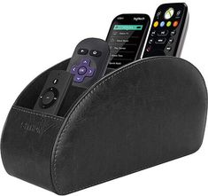 Remote Control Holder with 5 Compartments - PU Leather Remote Caddy Desktop Organizer Store TV, DVD, Blu-Ray, Media Player, Heater Controllers. Remote Control Organizer, Remote Caddy, Remote Control Holder, Tv Remote Controls, Desk Caddy, Storage Caddy, Desktop Storage, Desktop Organization, Desk Stationery