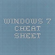 Windows 7 - Cheat Sheet