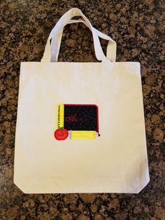 Check out this item in my Etsy shop https://www.etsy.com/listing/476942797/back-to-school-tote