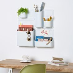 Launched today! @myurbio takes it to the next level with Perch, a wall-mounted modular storage system that uses adhesive and magnets to stay in place. Read more about it on designmilk.com