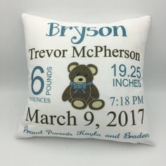 New Baby Pillow | Baby Announcement | Baby Stats Pillow | Custom Baby Pillow | Keepsake Gift | New Parent Gift | Personalized Baby Gift  #AnnouncementPillow #BabyStatsPillow #PersonalizedPillow #CustomBabyPillow #PersonalizedBaby #PersonalizedGift #KeepsakeGift #BabyGift #BabyAnnouncement #BirthAnnouncement