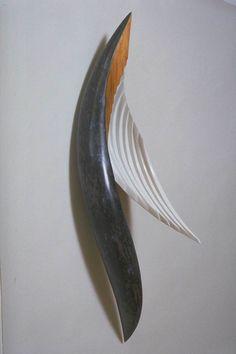 Aqua Nymph 1992, Wood and mixed media, 36 x 16 x 10 inches,  Fritz Dietel Sculpture