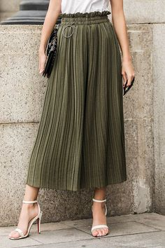 ZILEY PLEATED CULOTTE TROUSERS