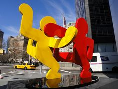 Lower Manhattan - Keith Haring's Untitled 1986 (Two Dancing Figures)