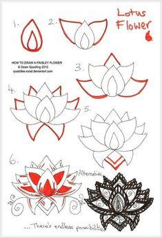 Как научиться рисовать узоры в виде цветов и листьев / Мастер-класс