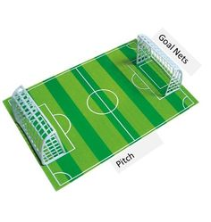Edible Icing Ready Made Football Pitch Cake Topper Decoration This ready made cake covering measures approx 210mm x 275mm and is ready to lay on top