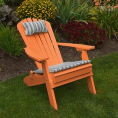 Yellow POLYWOOD Folding Reclining Adirondack Chair Porch and Patio Seating, Poly Wood Outdoor Foldable Chairs, Perfect for Front Entry & Back Yard, Fire Pit & Pool Side, 12 Color Choices (Sunshine) Recycled Plastic Adirondack Chairs, Adirondack Chair Cushions, Adirondack Furniture, Adirondack Chairs For Sale, Patio Seating, Patio Chairs, Outdoor Chairs, Outdoor Decor, Ikea Chairs