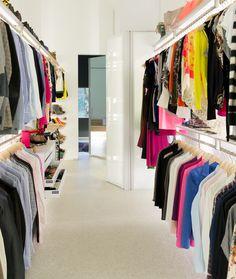 Combinatie garderobekast en inloopkast op maat
