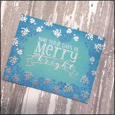 Using non holiday stamps for a holiday card! I used Mama Elephant Water Blooms and WPlus9 stamps.