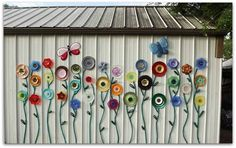 RECYCLED plates & GARDEN hoses create DECORATIVE art! No diy
