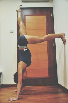 Sexy yoga #joytotheyogis day 8: handstand prep this is a great exercise to help work your core strength and upper body strength if you are working towards a handstand prep. the distance between...