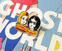 Ghost World Shrink Plastic Brooch - Made To Order by happyrose on Etsy https://www.etsy.com/listing/163401514/ghost-world-shrink-plastic-brooch-made
