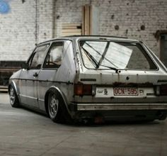 """VW Golf with """"patina""""."""