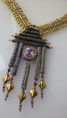 pagoda rivoli necklace design by Linda Gettings coming to The Hive this August!  Keep watching the website!