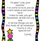 Leave a lasting impression with our version of the Im glad I was your teacher poem. Your students will love it! Can be printed in color or grays...