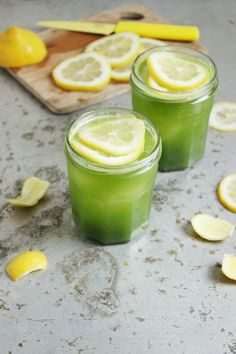 Boozy Green Lemonade from Sherrie of With Food and Love sounds just right for #mardigras. Cheers!