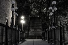https://flic.kr/p/JGfZ9Y | Stairway by night | Wooden stairway near the Chateau Frontenac in Quebec City. My son and I have been there at dusk and been waiting an hour for the other lights to turn on. They don't!  Don't spam my photo thread! Comments with awards or photos will be removed!  Facebook | 500px | Website