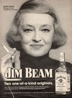 BETTE DAVIS JIM BEAM