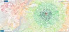 Accessibility mapping of complex transportation networks