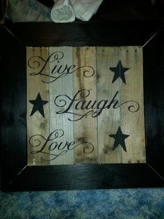 With the shims Use an old frame painted and then stencil using Sharpie!! Def doing this...love this stuff!