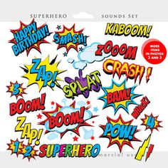 Superhero clipart - comic book clip art, super heroes FOR Teacher Appreciation stuff Superhero Classroom, Superhero Party, Superhero Teacher, Free Clipart Images, Art Clipart, Letras Comic, Superhero Clipart, Spongebob Birthday Party, Pop Art