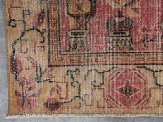 Farabi - Pink Turkish Vintage Area Rug (5x9)