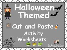 Halloween Cut and Paste Activity Worksheets