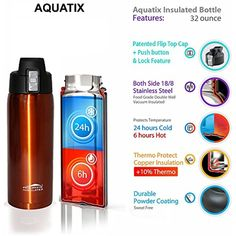 Glass Water Bottle 32 OZ 1L Time Measurements Leak Proof Sports Gym Shaker Ball
