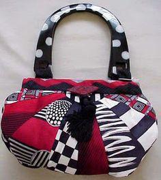 Caitlyn Handbag from Neckties by Mirja | Sewing Ideas