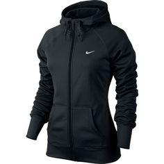 Nike Women's All Time Full-Zip Hoodie -- for cold gym mornings; medium, black