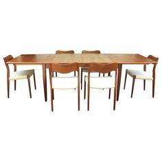 Image of Danish Teak Table And Niels Møller Chair Set