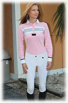 Equine Couture Ladies Ingate Knee Patch Breeches, available in Safari
