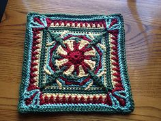 "Ravelry: Project Gallery for Purple Throated Hummingbird 12"" Afghan Overlay Block pattern by Margaret MacInnis"