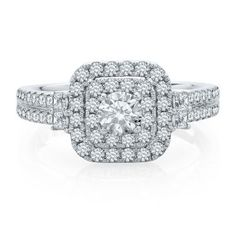 My Diamond Story 1 1/10 ct. tw. Diamond Engagement Ring in 14K Gold  available at #HelzbergDiamonds