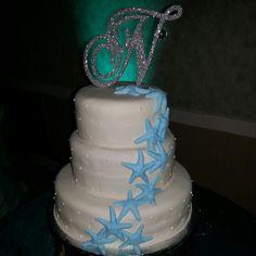 Starfish cake Starfish Cake, Wedding Cakes, Birthday Cake, Desserts, Food, Wedding Gown Cakes, Tailgate Desserts, Birthday Cakes, Deserts