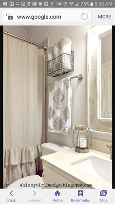 I Added A Touch Of Farmhouse Flair To Our Guest Bathroom Using This Metal Hanging Basket From HomeGoods Display Pretty Towels