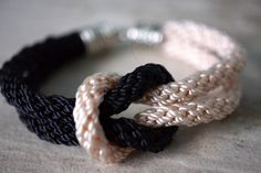 Color Block Knot Bracelet Double Cord Rope Braided by fanfarria