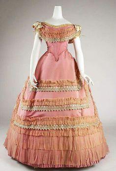 French silk ballgown 1867
