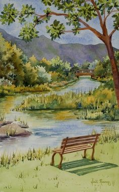 The River, Rogue River Oregon painting | Fine Art Watercolors