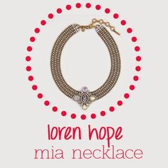 Mia Bib Necklace from Loren Hope #madeinUSA
