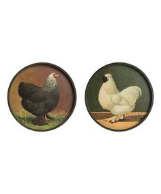 Vintage Chicken Round Metal Wall Art Set | Best Price and Reviews | Zulily