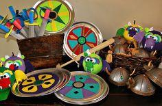 Viking and Dragon themed birthday party via Kara's Party Ideas KarasPartyIdeas.com Printables, invitation, cake, decor, cupcakes, etc! #vikings #dragons #dragonparty (7)
