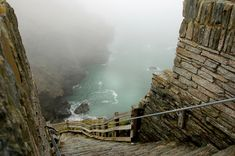 Tintagel Castle - Atlantic coast of Cornwall, England. I have ALWAYS wanted to go to Cornwall! Cornwall England, England Uk, Oxford England, Yorkshire England, Yorkshire Dales, London England, Oh The Places You'll Go, Places To Travel, Places To Visit