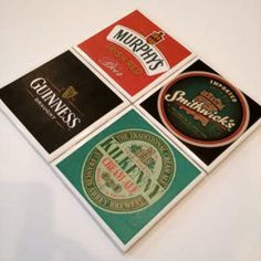 Hey, I found this really awesome Etsy listing at https://www.etsy.com/listing/170787691/irish-beer-coasters-beers-of-ireland-set