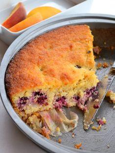 (Grain free!) Blackberry Lemon Cake - uses mashed potatoes!