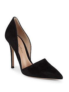 GIANVITO ROSSI SUEDE D' ORSAY PUMPS. #gianvitorossi #shoes #