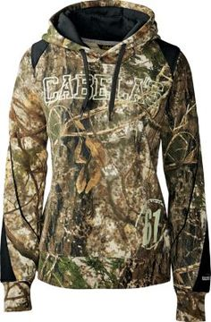 i like this cabelas sweatshirt. and its for women you dont see to many good looking camo sweatshirts for women.